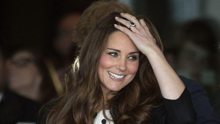 De Britse hertogin Kate, die op het punt van bevallen staat. Beeld ap
