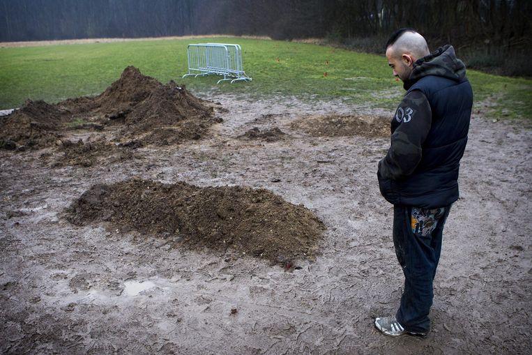 Omar Abdel Hamid El-Hussein werd begraven op een moslimbegraafplaats in Brondby.