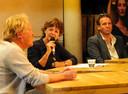 Karin van As als gesprekleidster in een van de talkshows tijdens Film by the Sea 2020.