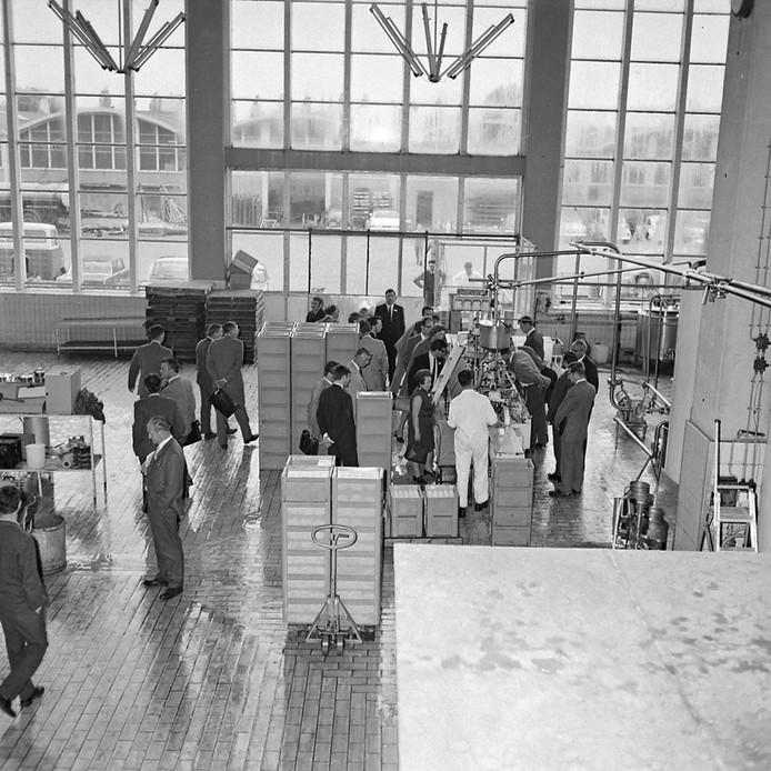 Rondleiding bij Campina in 1970