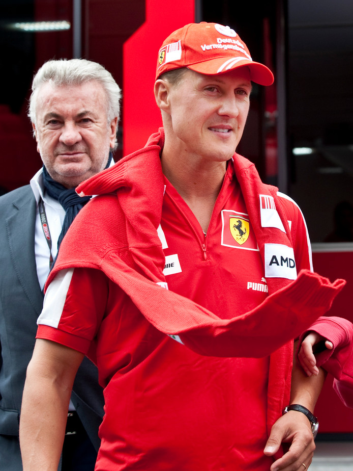 Michael Schumacher et son manager Willi Weber.