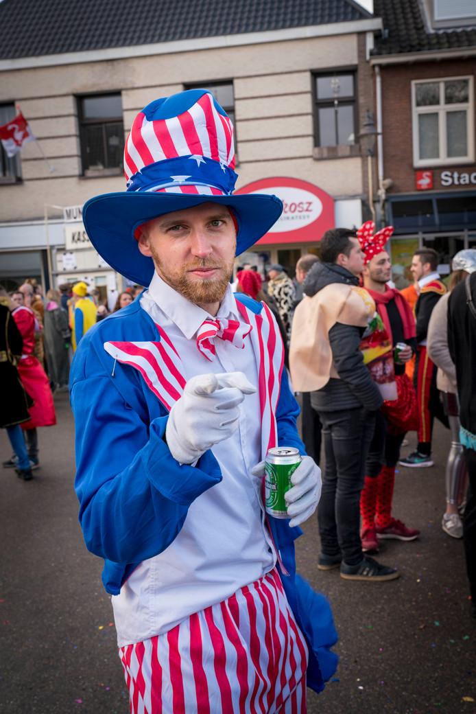 Uncle Sam wants you, ofwel:  Niek Bugter (24) uit Arnhem.