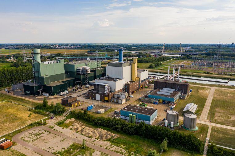 De gascentrale van Vattenfall in Diemen. De centrale op biomassa moet hier verrijzen.  Beeld Hollandse Hoogte/Michiel Wijnbergh Fotografie