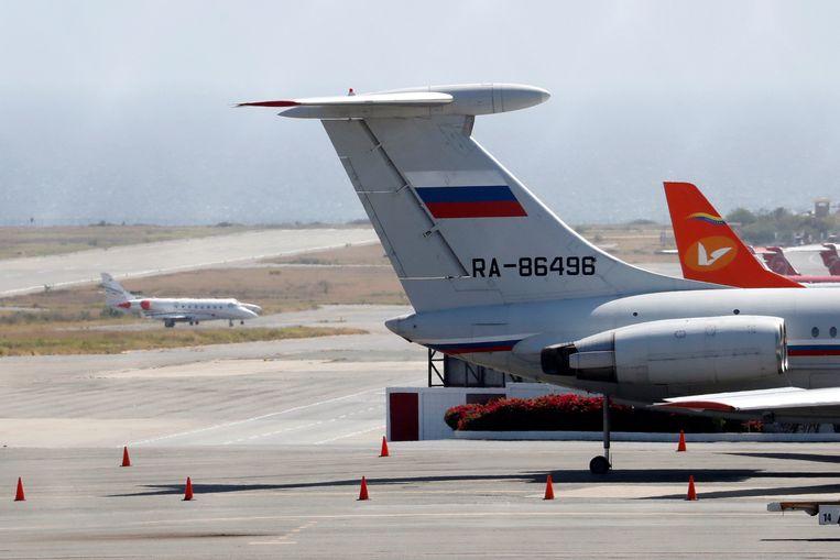 Vliegtuigen op de internationale luchthaven van Caracas.