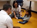 Sara in het Sophia Kinderziekenhuis.
