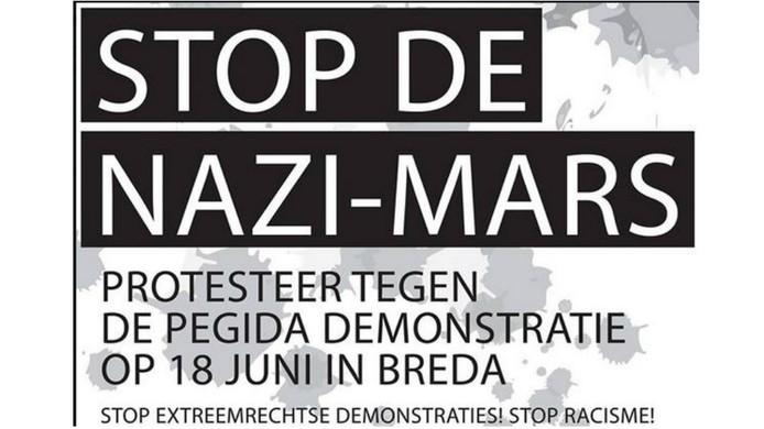 De oproep voor de tegendemonstratie die Laat Ze Niet Lopen in Breda wil houden.