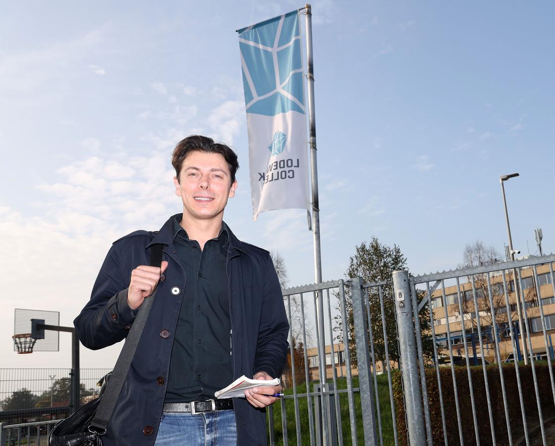 PZC-journalist Bas Bareman bij het Lodewijk College.