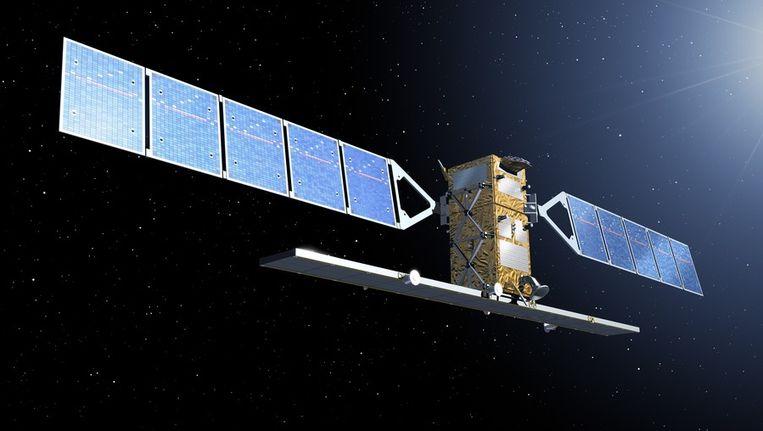 De Sentinel, op een 'artist impression', vrijgegeven door de European Space Agency, ESA. Beeld ap