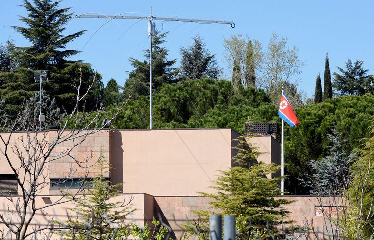 De ambassade van Noord-Korea in Madrid.
