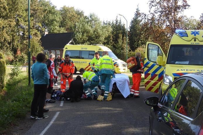 Fietsster gewond na valpartij met echtgenoot in Budel.