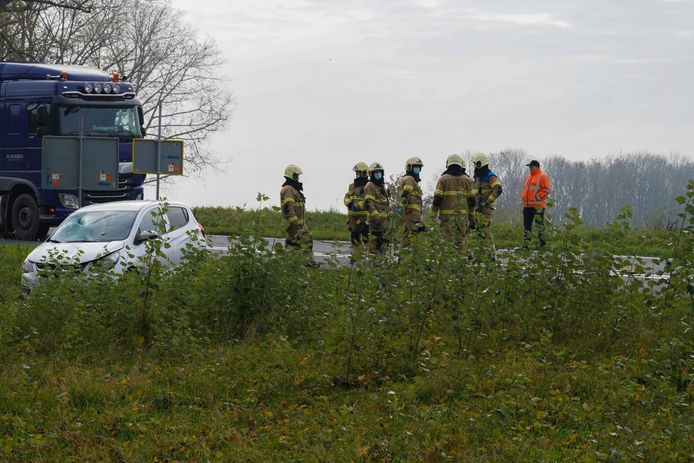Ongeluk op de A50.
