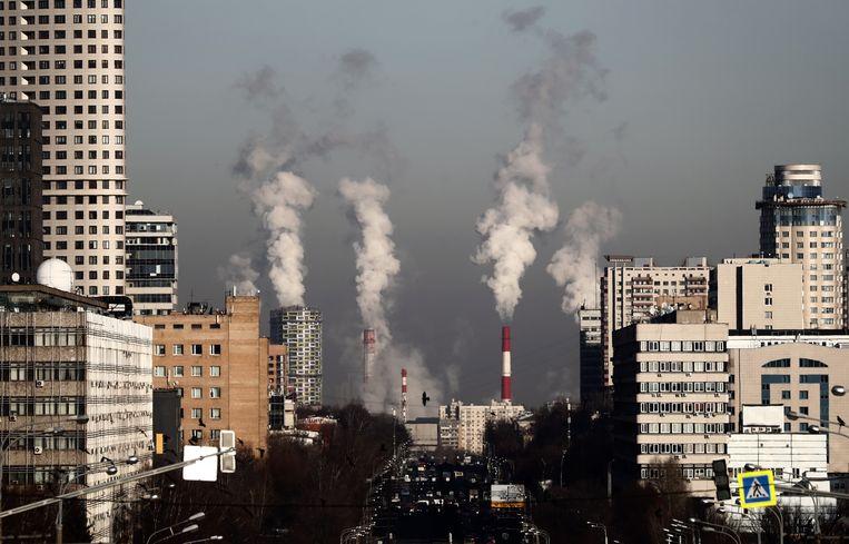 De concentratie CO2 in de atmosfeer bereikte in 2018 een nieuw record. Beeld EPA