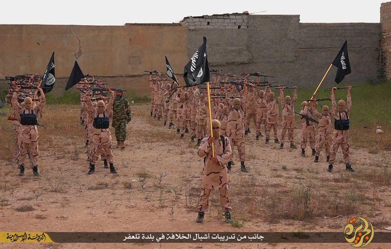 Een foto uit 2015 toont een opleidingskamp van IS.