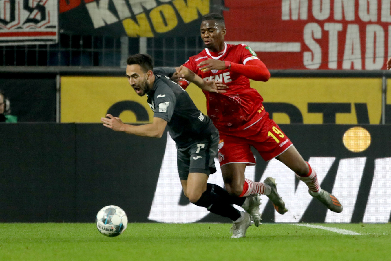 Kingsley Ehizibue, nu speler van 1. FC Köln, speelt donderdag een oefenwedstrijd tegen PEC Zwolle.