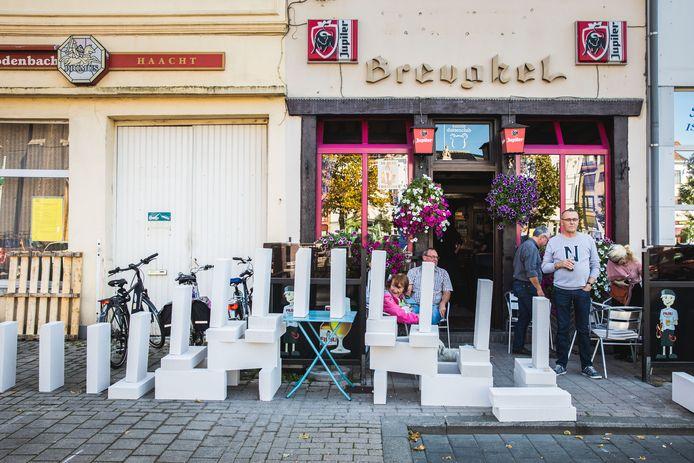 De domino's tussen in Ledeberg en de wijk Moscou waren de blikvanger van het festival van de architectuur