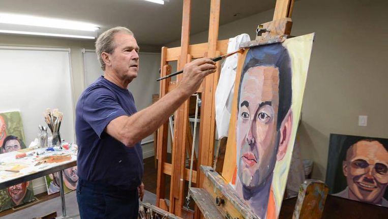 George in zijn atelier. Beeld epa
