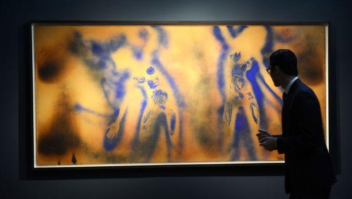 Het werk FC 1 van de Franse kunstenaar Yves Klein.