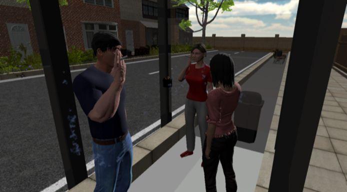 Een virtuele rokershoek.