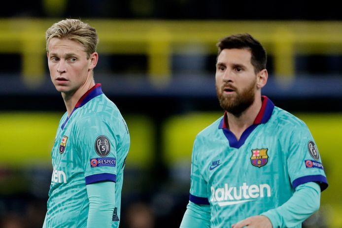Frenkie de Jong en Lionel Messi.