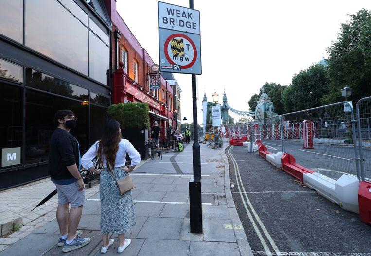 De Hammersmith Bridge in West-Londen is gesloten.