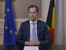 """Alexander De Croo: """"La Belgique est en confinement partiel"""""""