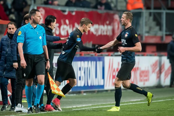 Kristinsson valt in tegen FC Twente.