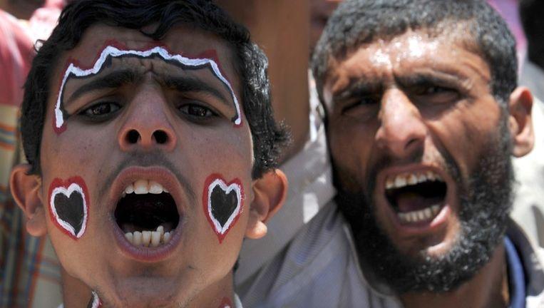 Demonstranten tegen president Saleh. Beeld epa
