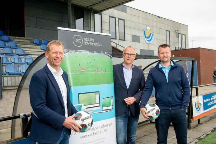Henk Bloemers, Frank Maathuis en Sytse Bouwer (vlnr) van 360SportsIntelligence