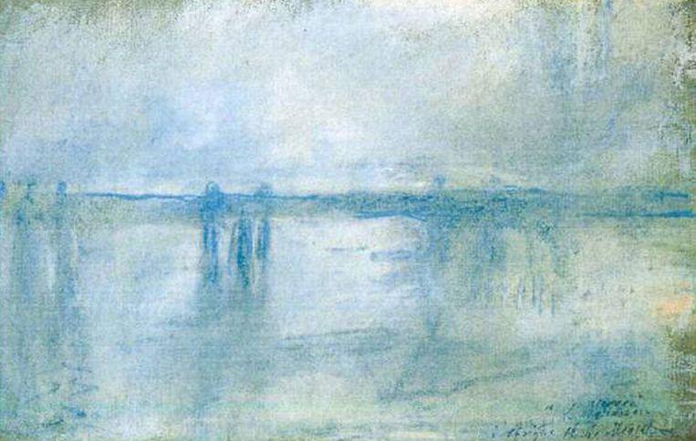 Claude Monet: 'Charing Cross Bridge, London' (1901) Beeld