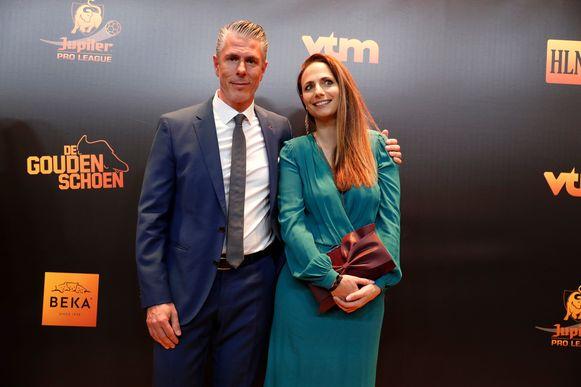 Michael Verschueren met zijn partner op het Gala van de Gouden Schoen.