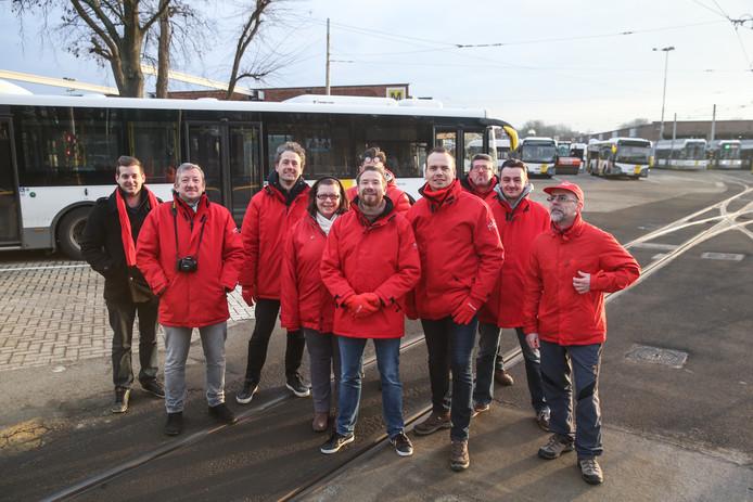 Stakingspiket aan stelplaats de lijn in Gentbrugge.