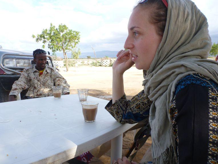 Iris Hannema in Somaliland. Beeld