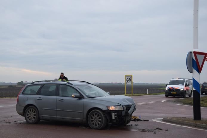 Gewonde bij auto ongeval in Brouwershaven.