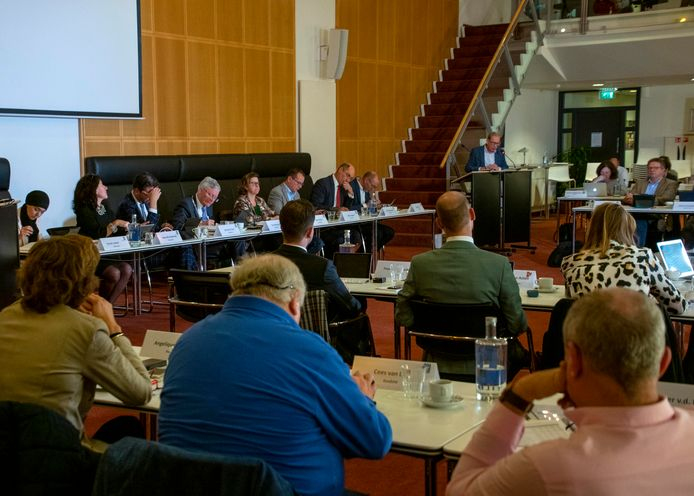 Archieffoto van de gemeenteraad van Tilburg tijdens een eerdere vergadering.