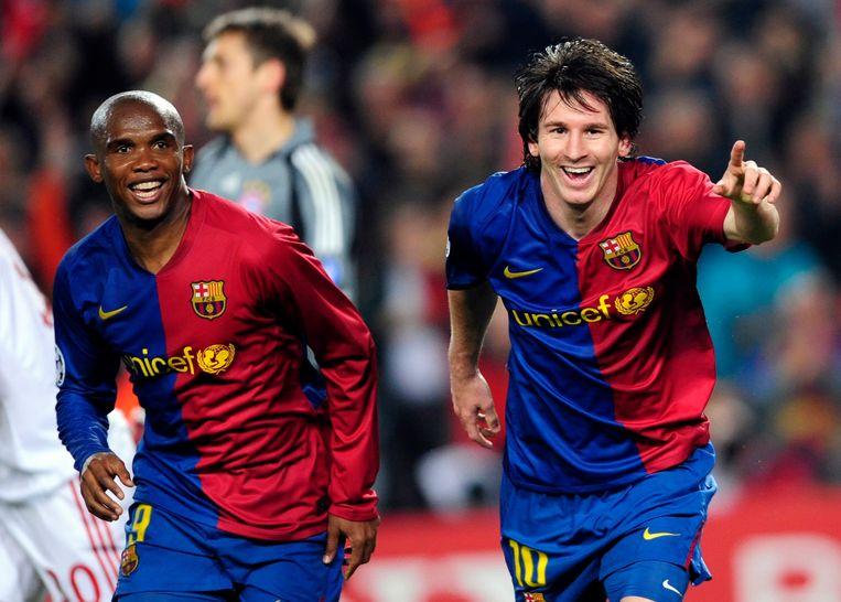 Samuel Eto'o en Lionel Messi.