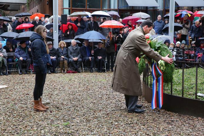Een eerdere herdenking van het bombardement op Nijmegen.