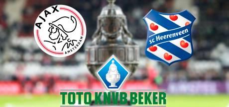 KNVB-beker: Ajax - Heerenveen