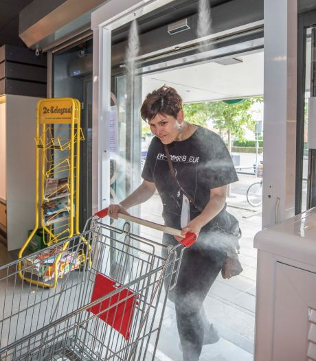 Dit is de allereerste supermarkt waar je eerst door een desinfectiepoort moet