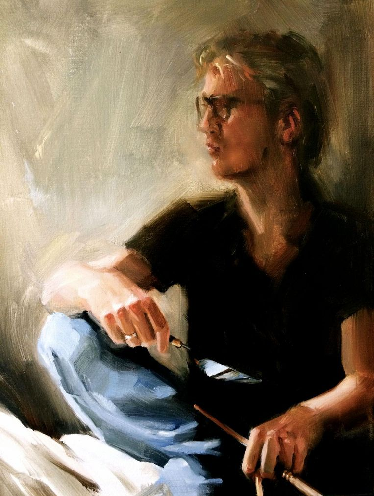 Zelfportret van de schilder Beeld Edwin van den Dikkenberg