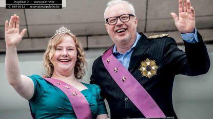 Koning Meuris en Koningin Emmers op brochure Palethe
