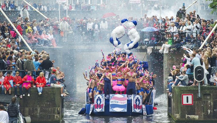 De Canal Parade werd verkozen tot de beste dag voor homo's. Beeld anp