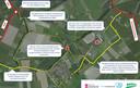 Een situatieschets van het plan van de provincie, gemeente en het waterschap.
