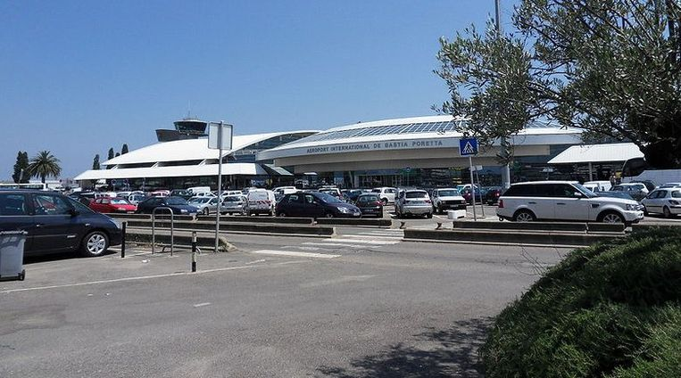 De luchthaven van Bastia.