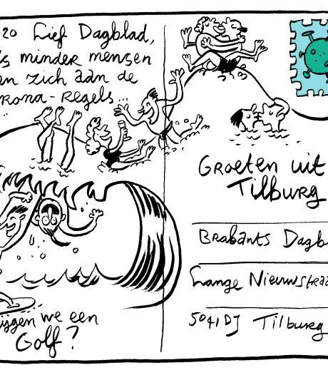 Corona gevat in Tilburgse cartoons: 'Tekenen is mijn manier om te zorgen dat 't allemaal nog een beetje te pruimen is'