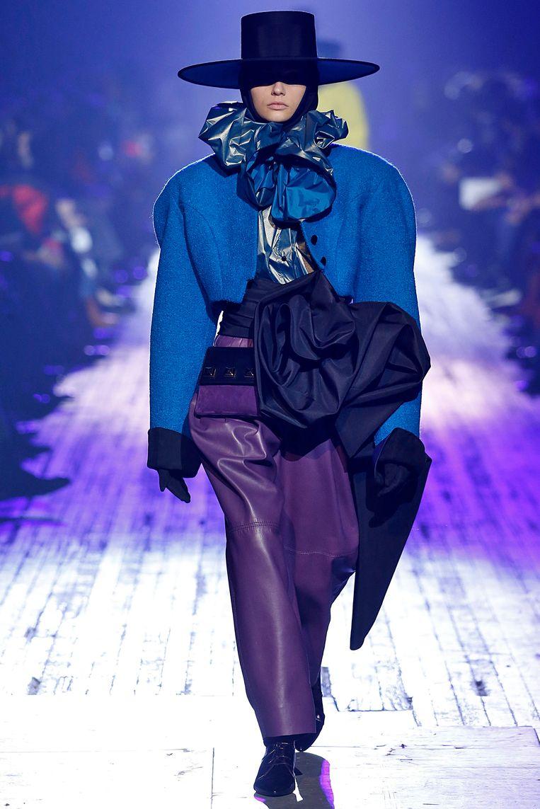 Grote schouders gespot bij de herfst-wintercollectie 2018 van Marc Jacobs tijdens New York Fashion Week.