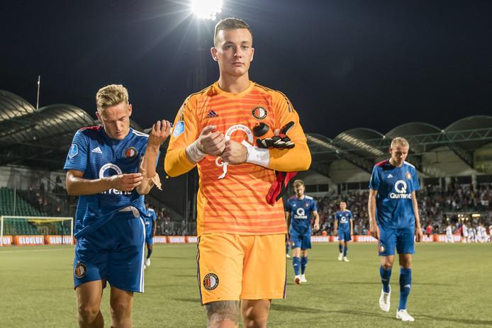 Jens Toornstra, Justin Bijlow en Sven van Beek druipen af.