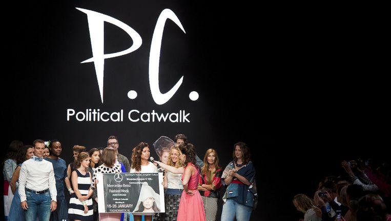 Gistermiddag stonden politici op de Catwalk voor het project Political Catwalk Beeld Political Catwalk