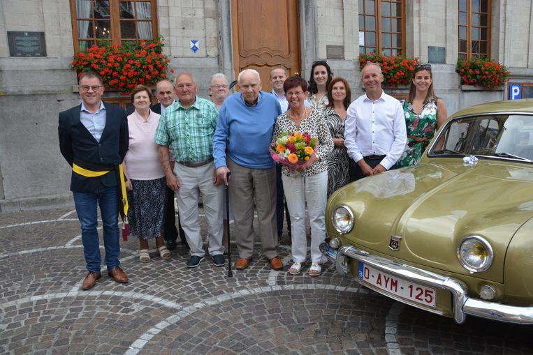 Omer Bouttelisier en zijn vrouw Marcella Van Eeckhoutte vieren briljant
