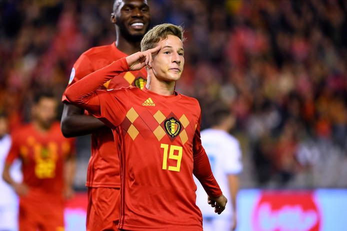 Yari Verschaeren a inscrit son premier but en sélection à seulement 18 ans.
