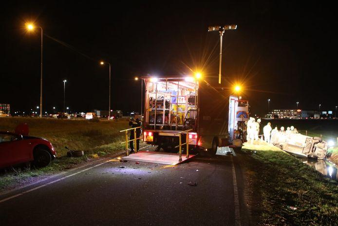 Twee traumahelikopters opgeroepen voor een ongeluk op de Maanderbroekweg in Ede.